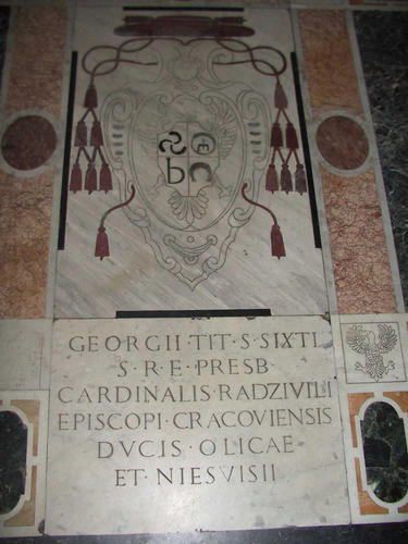 Georg de Radzivil, Grabmal Il Ges, Gesamtansicht